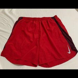NIKE DRI-FIT red short size xxl.